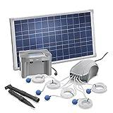 Solar Teichbelüfter 25W Solarmodul 5 x 120l/h Luftleistung 600l/h gesamt +...