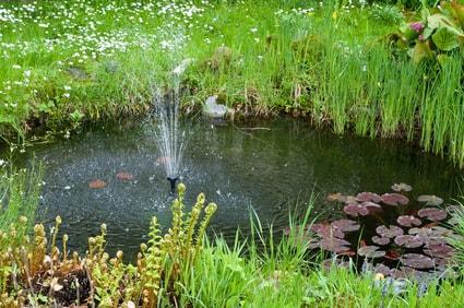 Solar Teich Springbrunnen